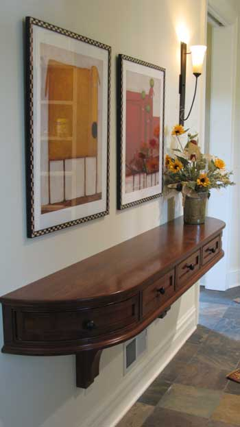 custom walnut hall table east troy wisconsin